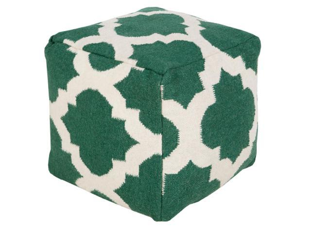 Swell 18 Forest Green And Ivory Spaded Spheres Wool Rectangular Pouf Ottoman Newegg Com Lamtechconsult Wood Chair Design Ideas Lamtechconsultcom