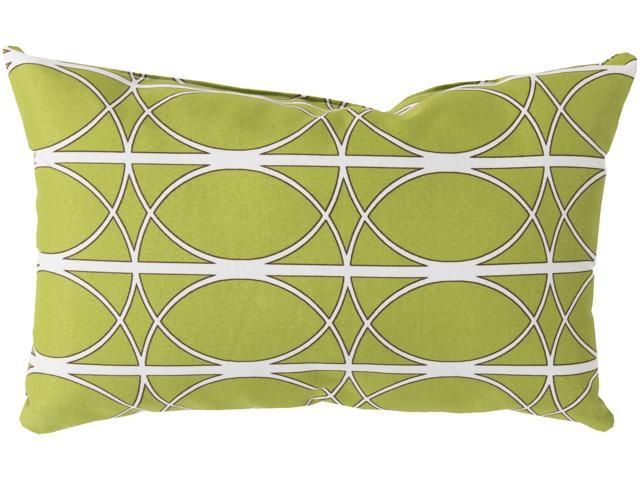 Dark Brown Throw Pillows.20 Linear Circles Lime Ivory And Dark Brown Decorative Rectangular Throw Pillow Newegg Com