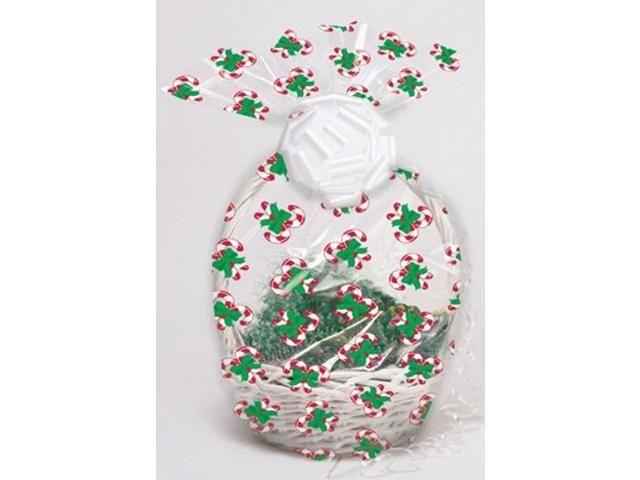 Pack Of 12 Candy Cane Christmas Holiday Large Cellophane