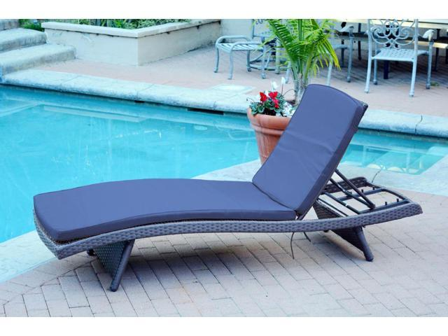 Cool 2 Adjustable Espresso Resin Wicker Outdoor Patio Chaise Lounge Chairs Blue Cushions Cjindustries Chair Design For Home Cjindustriesco