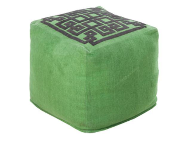 Incredible 18 Forest Green And Charcoal Gray Maize Top Linen Square Pouf Ottoman Newegg Com Lamtechconsult Wood Chair Design Ideas Lamtechconsultcom