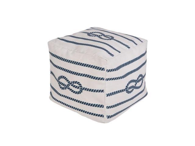 Cool 18 Cobalt Blue And Ivory Knotted Rope Square Outdoor Patio Pouf Ottoman Newegg Com Machost Co Dining Chair Design Ideas Machostcouk