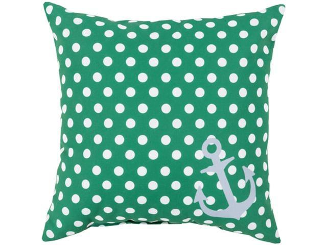 Astonishing 26 Emerald Green And Lily White Polka Dots And Anchor Decorative Throw Pillow Machost Co Dining Chair Design Ideas Machostcouk