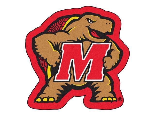 NCAA University of Maryland Terps Mascot Novelty Logo Shaped Area Rug -  Newegg.com