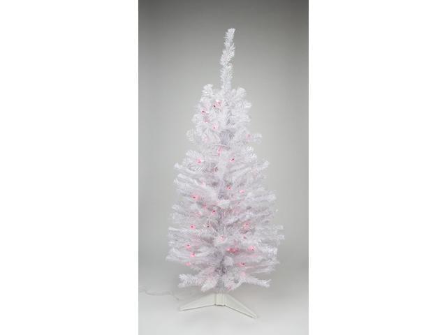 Pink Artificial Christmas Tree.2 Pre Lit White Iridescent Pine Artificial Christmas Tree Pink Lights Newegg Com