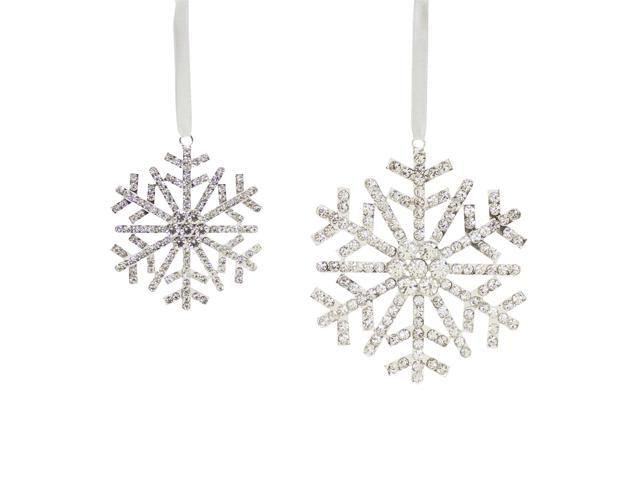 Pack of 8 Silver Colored Snowflake Designed Christmas ...