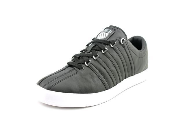 Black Faux Leather Sneakers Shoes