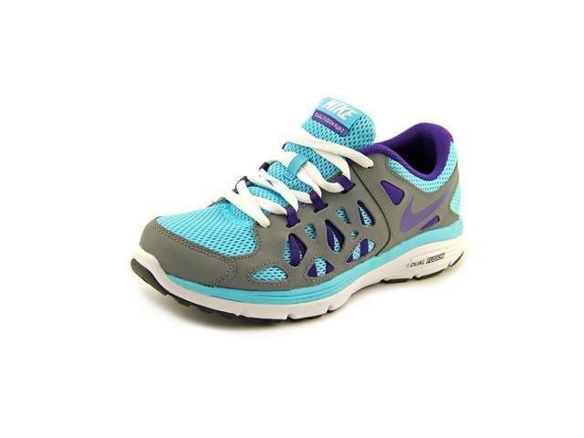 design de qualité 7b9e8 63213 Nike Dual Fusion Run 2 Youth Girls Size 6.5 Gray Mesh Running Shoes -  Newegg.com