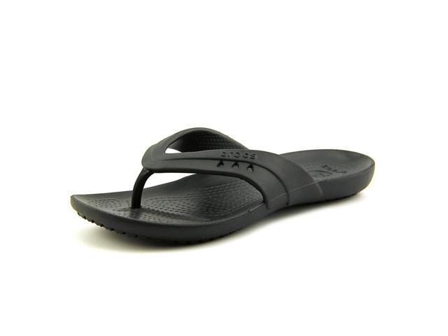 Ladies Crocs Kadee Flip Flop Women Black Sandals