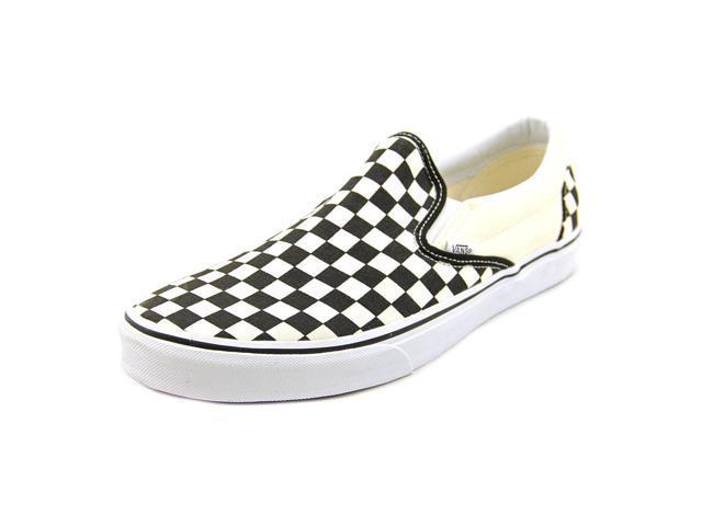Vans Classic Slip On Mens Size 10.5 Ivory Textile Skate Shoes