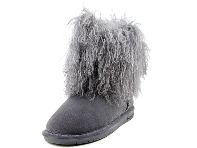 a015087ba4a Bearpaw Boots Womens Boo Lamb Wool Shaggy Suede 8 Charcoal 1854W -  Newegg.com