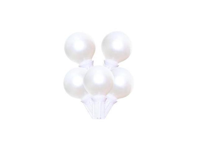 sival 40251 25 light g40 candelabra screw base white wire pearl white christmas light string