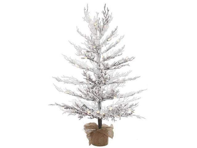 "3' X 27"" Flocked Winter Twig Tree With"