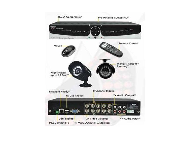 Night Owl Poseidon-85 8 Channel Surveillance DVR - Newegg com