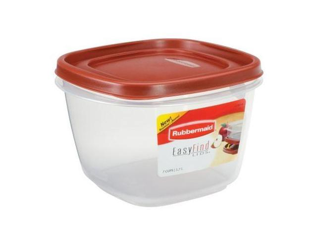 Rubbermaid Easy Find Lid, Square 7 Cup Food Storage Container   Newegg.com