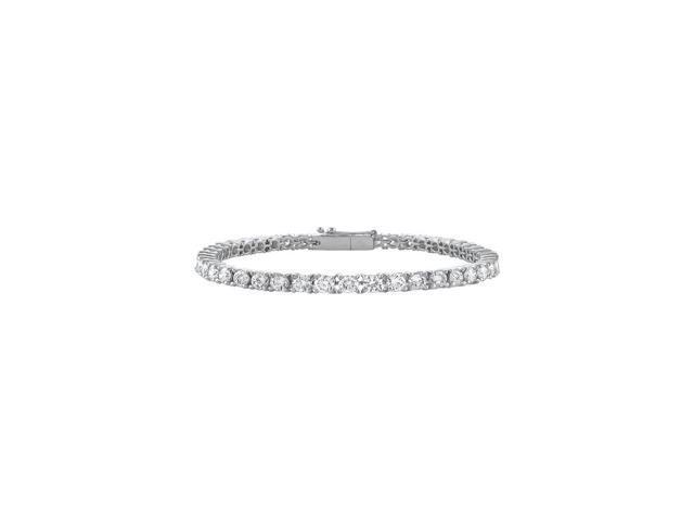 c74ec2f27ba Cubic Zirconia Tennis Bracelet in Sterling Silver 2 CT TGW- April  Birthstone Jewelry