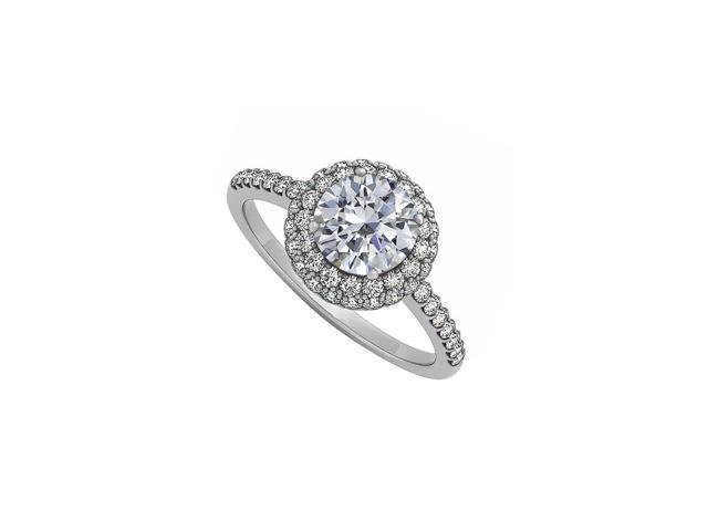 Cubic Zirconia Double Halo Engagement Ring in 925 Sterling Silver Cost  Effective - Newegg com