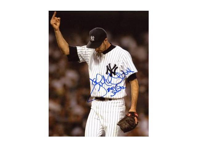 hot sale online 3edd0 47d37 Jack McDowell signed New York Yankees 16x20 Photo Middle Finger