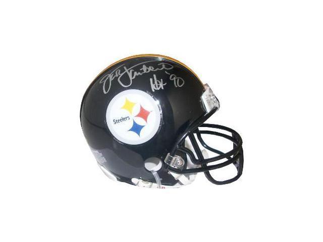 998c9fa7f1d Jack Lambert signed Pittsburgh Steelers Replica Mini Helmet Black Mask HOF  90 (silver sig)