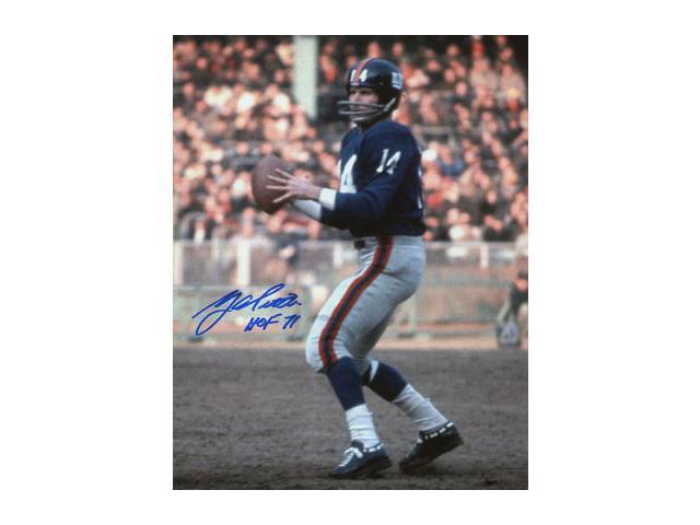size 40 d4b79 0801f YA Tittle signed New York Giants Blue Jersey Passing Vertical 8X10 Photo  HOF 71 - Newegg.com