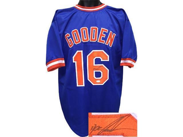 buy popular 4ece5 089bd Dwight Gooden signed Blue TB Custom Stitched Baseball Jersey XL- JSA  Hologram - Newegg.com