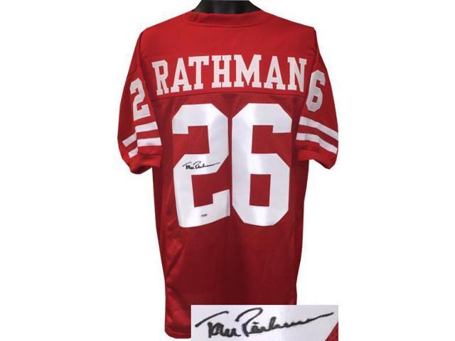 wholesale dealer ce5bd 7d342 Tom Rathman signed Nebraska Cornhuskers Red Custom Stitched College  Football Jersey XL- PSA Witnessed Hologram #6A74346 - Newegg.com