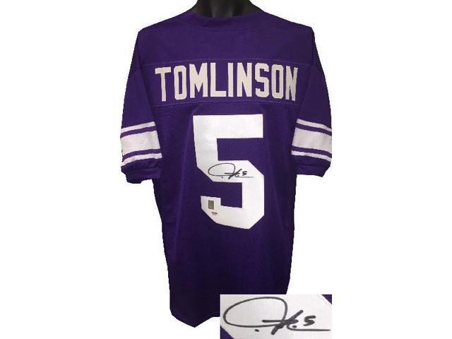 reputable site de0f9 9f936 Ladainian Tomlinson signed TCU Horned Frogs Purple Custom Stitched College  Football Jersey #5 XL- Tomlinson & PSA Holograms - Newegg.com