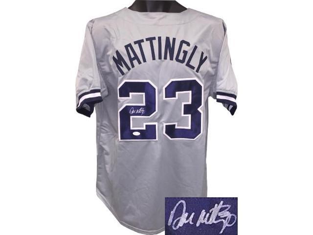 reputable site 4d78b f3d63 Don Mattingly signed Gray TB Custom Stitched Pro Baseball Jersey XL- JSA  Witnessed Hologram - Newegg.com