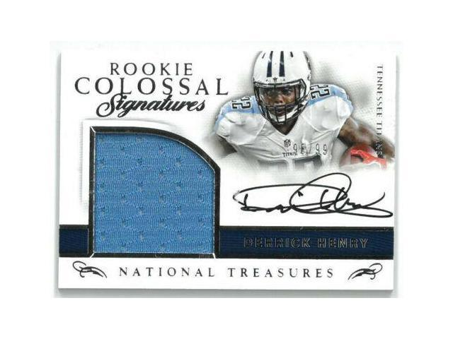 separation shoes 99c39 8988d Derrick Henry signed Tennessee Titans 2016 Panini National Treasures Rookie  Colossal Game Worn Jersey Card #12- LTD 98/99 - Newegg.com