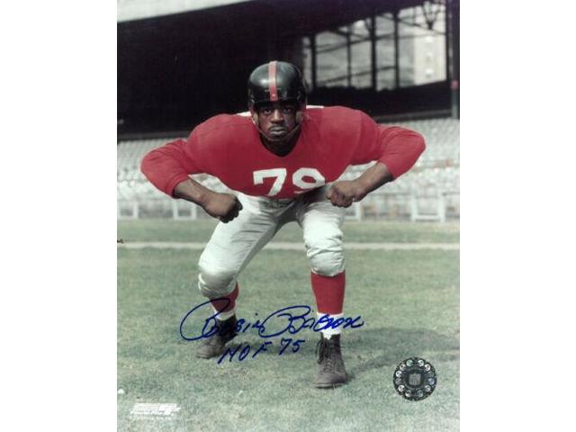 the latest 462cd 0f366 Roosevelt Rosie Brown signed New York Giants 8x10 Photo HOF 75 (red jersey)  - Newegg.com