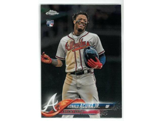 Ronald Acuna Jr Atlanta Braves 2018 Topps Chrome Update Rookie Card Rc Hmt25 Neweggcom