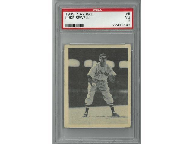 Luke Sewell Cleveland Indians 1939 Play Ball Baseball Card 5 Psa Graded 3 Very Good Neweggcom