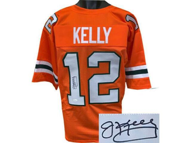 brand new f84b2 010a2 Jim Kelly signed Miami Hurricanes Orange TB Custom Stitched College Style  Football Jersey XL- JSA Witnessed Hologram - Newegg.com