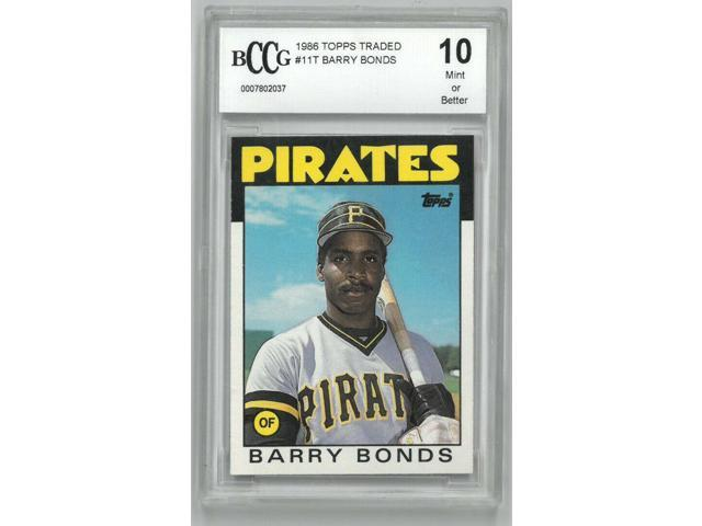 Barry Bonds Pittsburgh Pirates 1986 Topps Traded Rookie Baseball Trading Card Rc 11t Bccg Graded 10 Mint Neweggcom