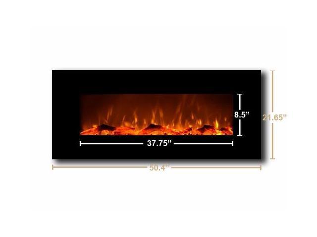 Amazing Touchstone 80001 Oynx Black 50 Wall Mounted Electric Fireplace Newegg Com Interior Design Ideas Gentotryabchikinfo