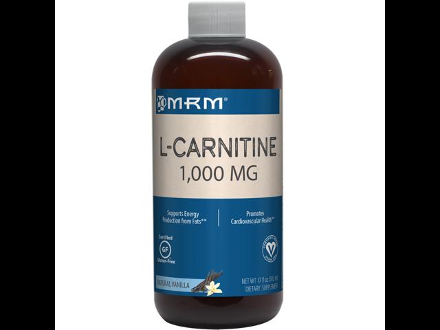 Carnitin 1000mg Natural Vanilla Flavor - MRM (Metabolic