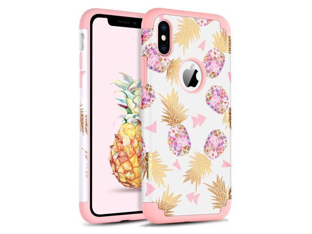 quite nice 135fd 0e1f4 BENTOBEN Phone Case for iPhone Xs(2018)/iPhone X/10, Pretty Pineapple Phone  Case, Heavy Duty Dual Layer Hard PC Cover Soft Silicone Bumper Protective  ...