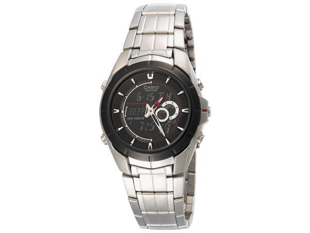 15803f901374 Casio Men s EFA119BK-1AV Ana-Digi Edifice Thermometer Bracelet Watch ...