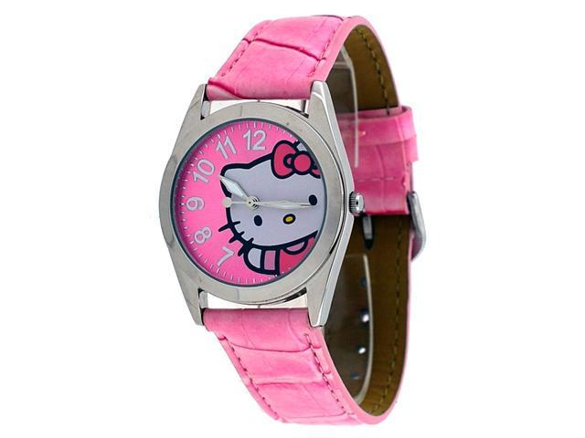 ce3edcadf Hello Kitty by Sanrio #HK1816 Women's Analog Pink Leather Strap Watch