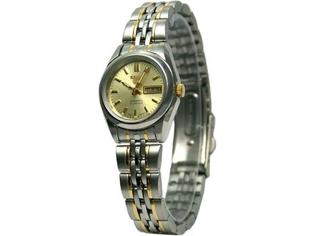 Seiko 5 Syma37 Women S Two Tone Stainless Steel Self Winding Automatic Watch Newegg Com