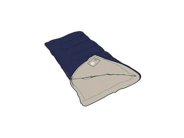 Coleman Brazos 75x33 Inch Rectangle Sleeping Bag Navy Beige