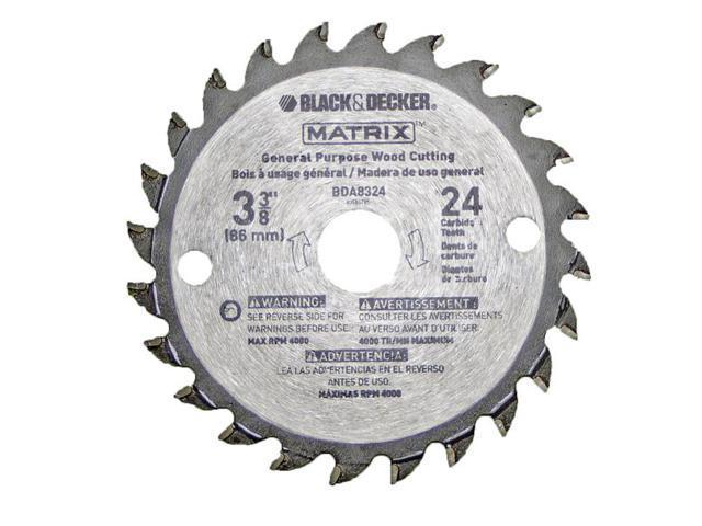 "Black /& Decker 90585148 Matrix Saw Replacement 3-3//8/"" Carbide Blades 2 Pack"