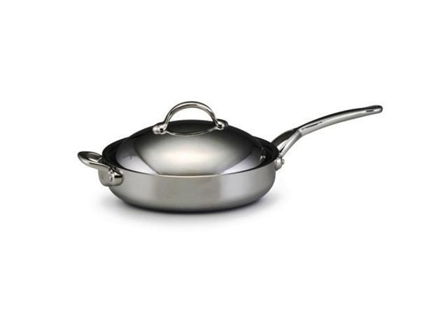 BonJour Copper Clad - 5 Qt  Covered Saute Pan w/Helper Handle - Newegg com