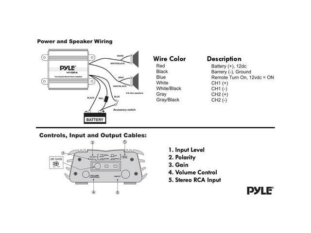 Channel Amp Speakers Sub Wiring Diagram Pyle Hydra on