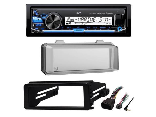 JVC Bluetooth Marine USB AUX Radio,Harley 98-2013 FLHX Install Adapter  Kit,Cover - Newegg com