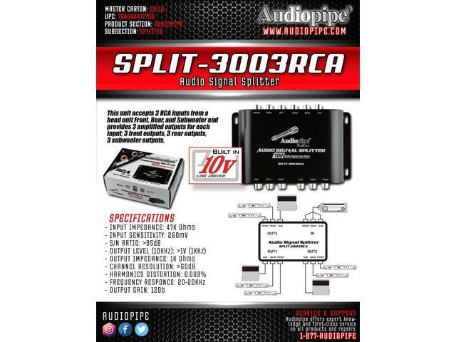 Audiopipe Multi-Audio Amplifier 3 RCA outputs