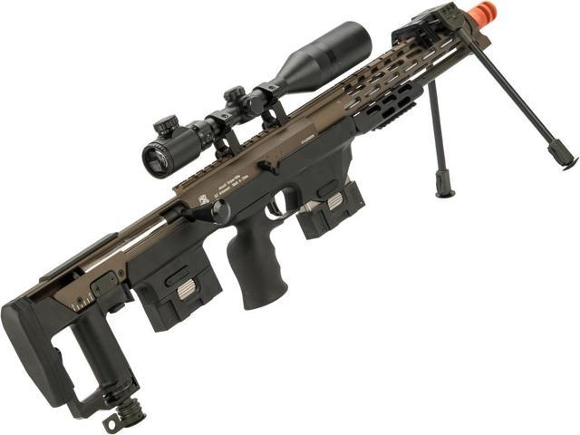 6mmProShop Spring Powered Full Metal DSR-1 Advanced Bullpup Sniper Rifle  (Color: Dark Earth) - Newegg com