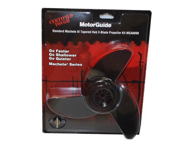 "MotorGuide Machete III Black 3 Blade Prop Kit 3.5/"" MGA089B"
