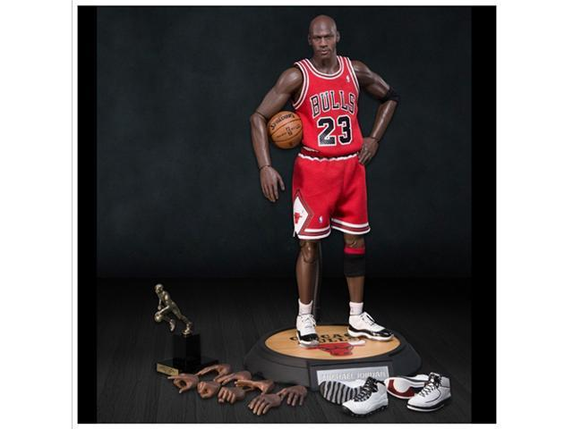 huge discount cfe10 b25e0 Enterbay x NBA Michael Jordan #23 Away Red Jersey (Series 1) 1:6 Figure  with Air Jordan II, X, XI shoes - Newegg.com