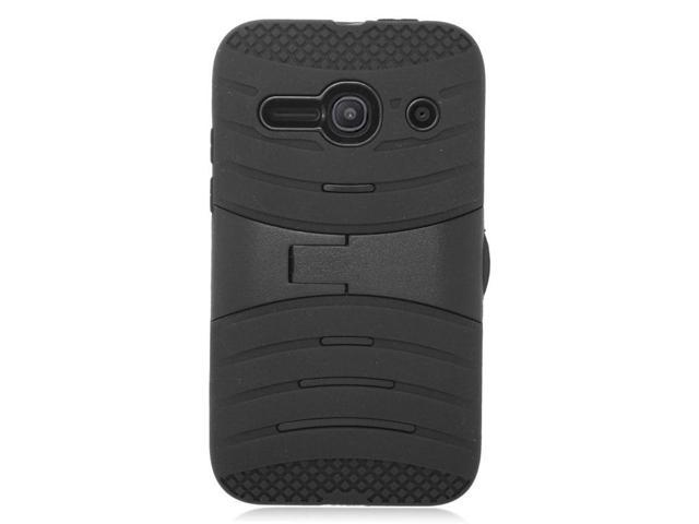 quality design 22d18 532cc Insten Wave Symbiosis Soft Hybrid Rubber Hard Phone Case For Alcatel One  Touch Evolve 2 - Black - Newegg.com